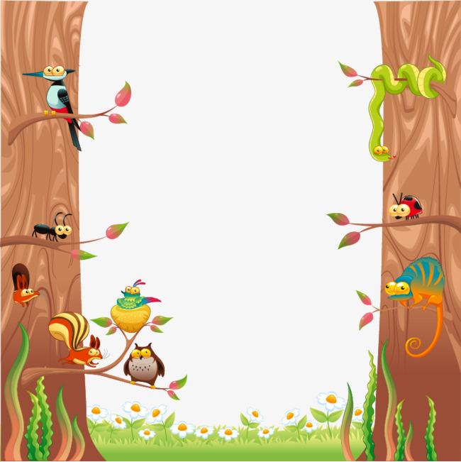 扁平化森林小动物