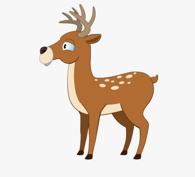 卡通手绘小鹿