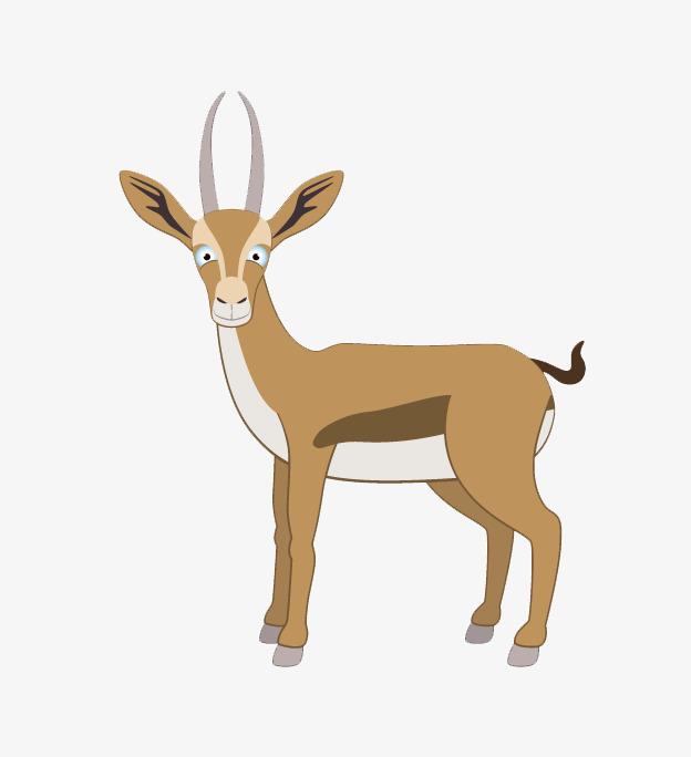 卡通手绘山鹿