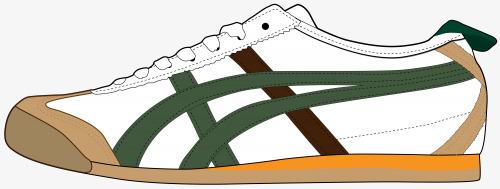 卡通手绘白色运动鞋