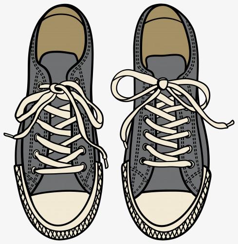 卡通手绘学生运动鞋