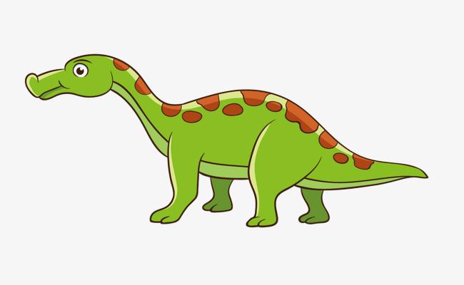 卡通手绘绿色恐龙