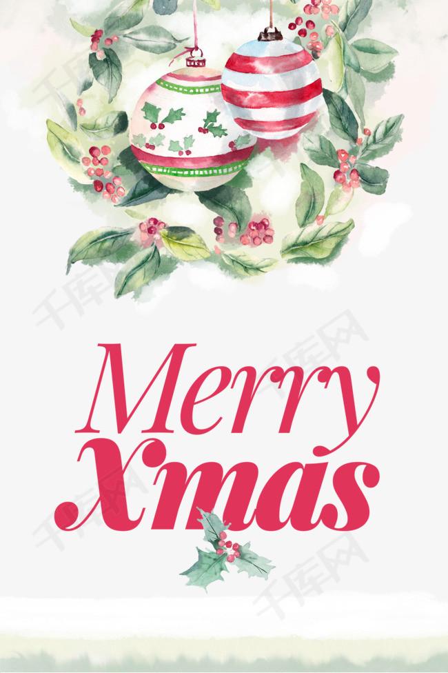 手绘英文圣诞节海报素材图片免费下载 高清节日素材psd 千库网 图片编号5725440