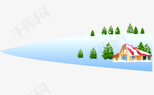 矢量手绘雪景素材图片免费下载 高清psd 千库网 图片编号5739415