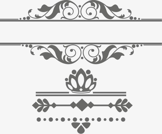 欧式复古花边文字框