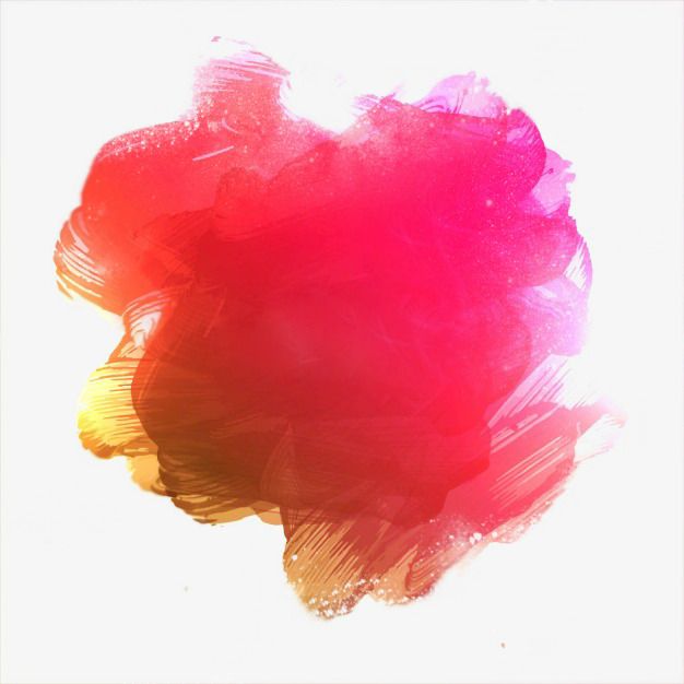 粉黄抽丝水墨水彩渐变免扣素材