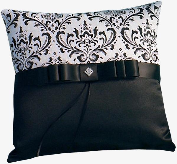 黑白色花纹抱枕