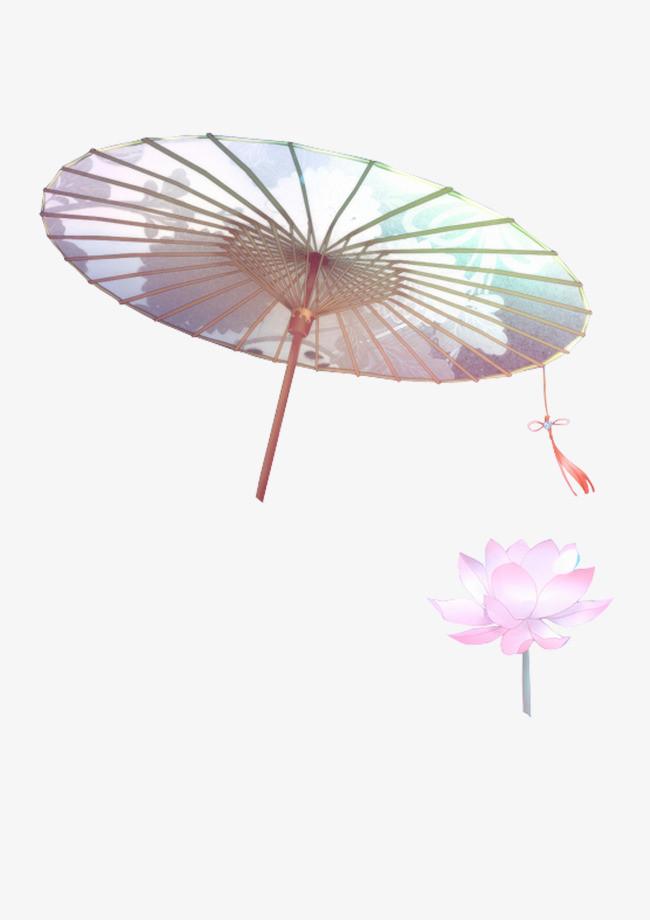 古风雨伞简笔画步骤