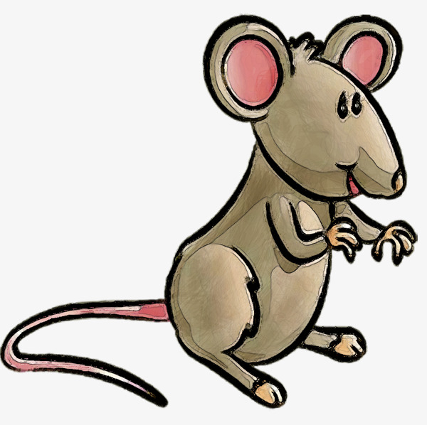 卡通手绘小老鼠
