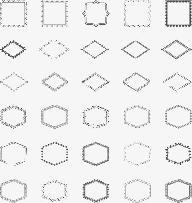 手绘方块png素材-90设计
