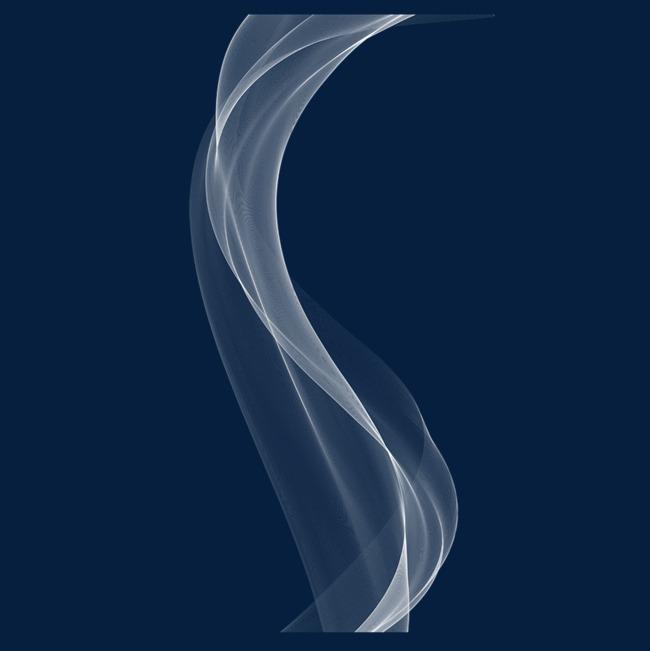烟雾免抠装饰素材白色飘纱古风