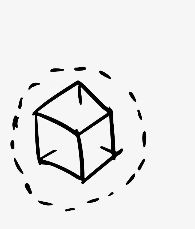 创意灵感手绘立方体