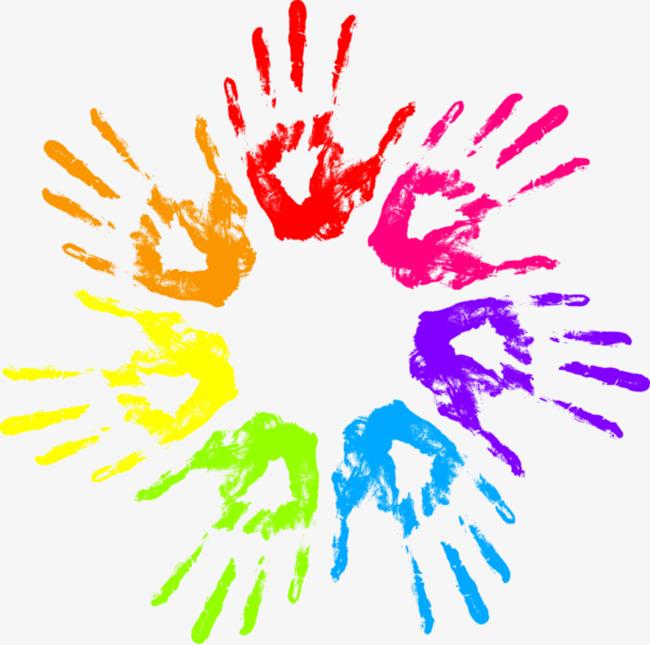 手掌图标_彩色手掌png素材-90设计