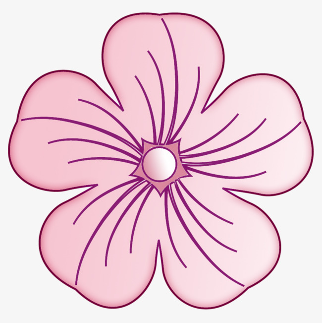 粉色简单手绘花