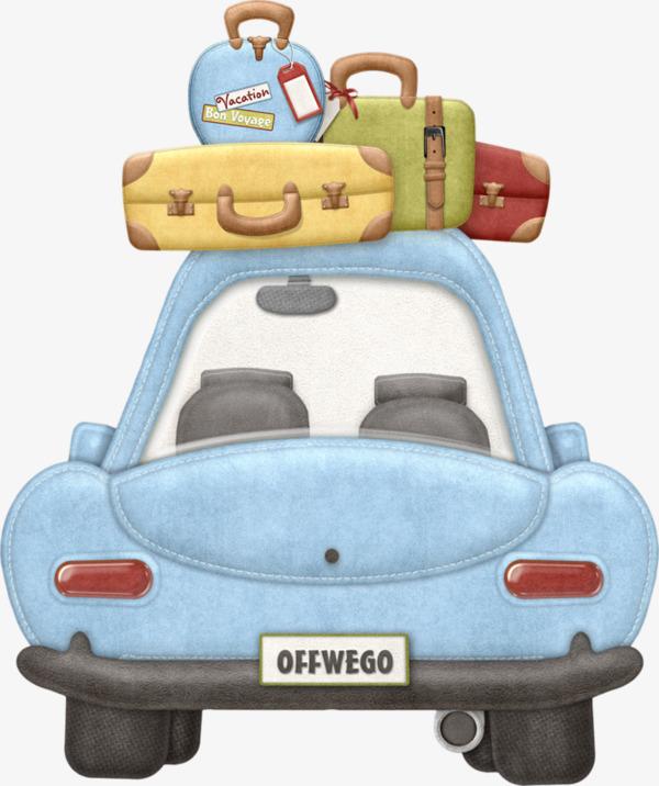 卡通汽车行李箱