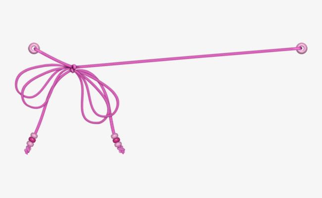卡通手绘绳子蝴蝶结