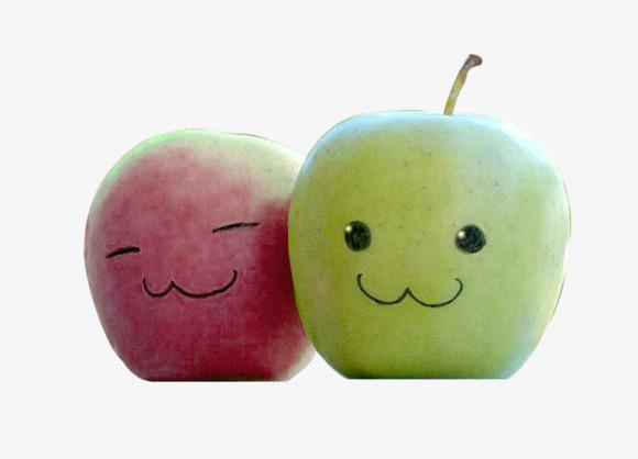 有表情的苹果图片