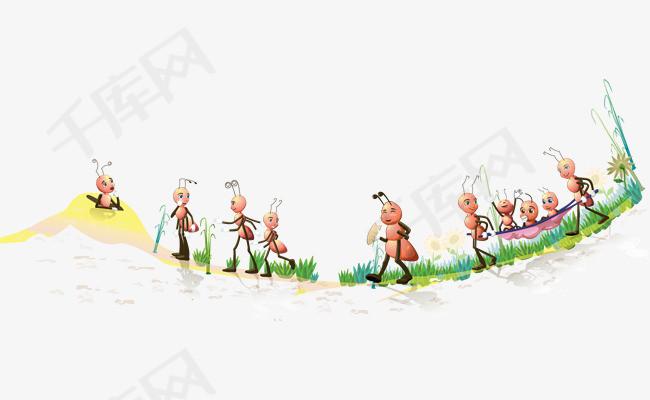 矢量手绘蚂蚁素材图片免费下载 高清装饰图案psd 千库网 图片编号5764803
