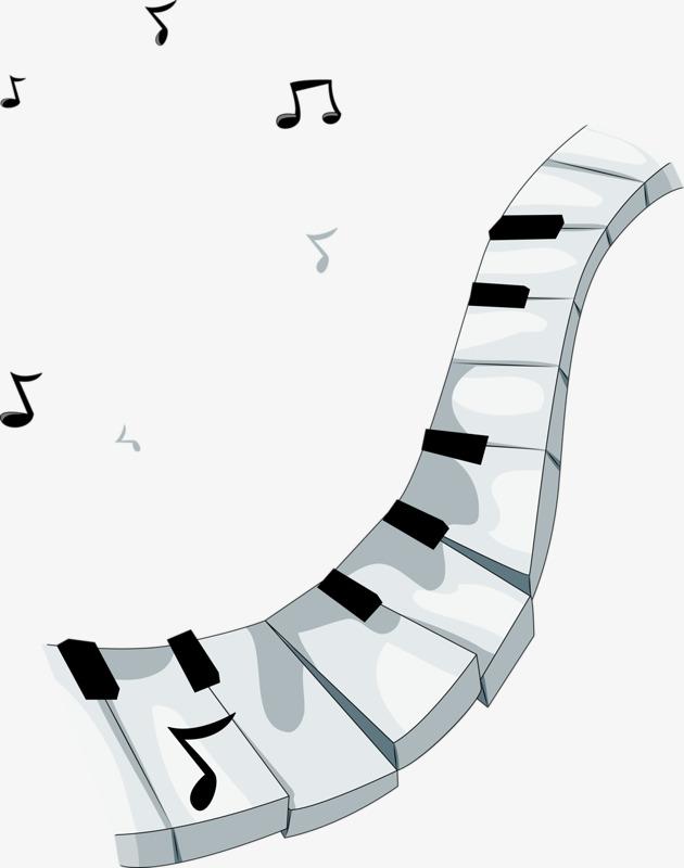 白色钢琴键图片