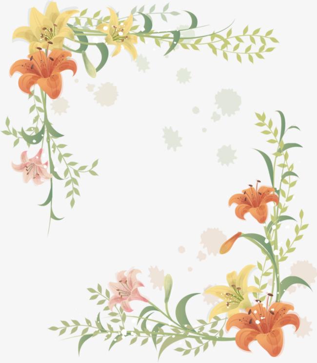 卡通手绘花朵装扮边框