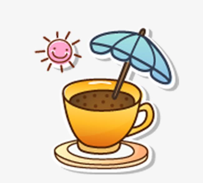 手绘 卡通 笑脸 雨伞 奶茶手绘 卡通 笑脸 雨伞 奶茶png免费下载