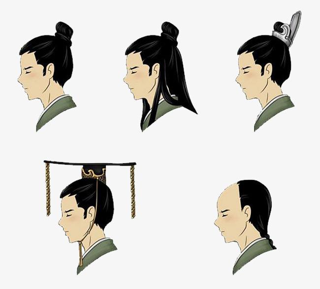 中国古代男子,女子的发型名称:  男子多是歇髻,戴着冠;女子发型有图片