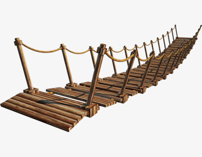 木质独木桥天桥png素材-90设计