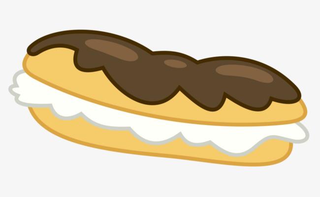 巧克力奶油面包卡通素材图片