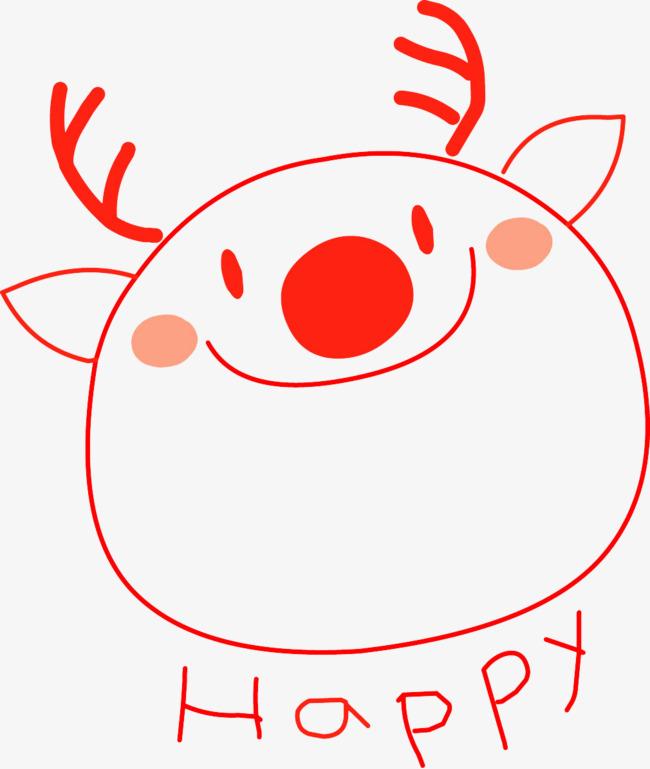 红色 圆滚滚胖胖的 可爱 红色 圆滚滚png免费下载 手机端:简笔画小鹿
