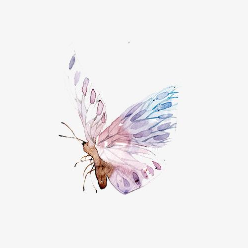 90设计提供高清png手绘动漫素材免费下载,本次手绘梦幻彩色蝴蝶作品为