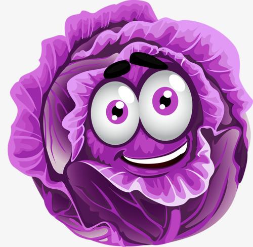 紫色卡通包菜图片