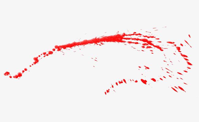 红色墨汁飞溅【高清png素材】-90设计