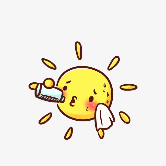 卡通太阳图案