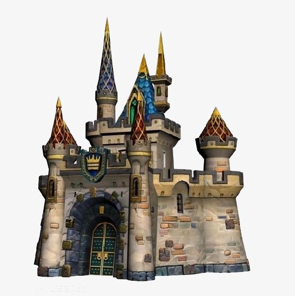 欧式卡通彩色城堡