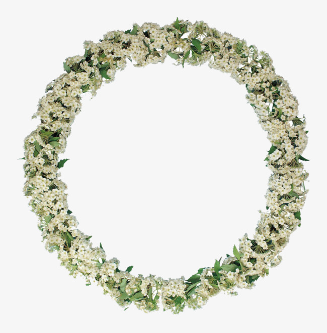 好看的圆形花环
