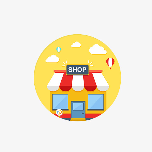 点击右侧免费下载按钮可进行 卡通小商店png图片素材高速下载.图片