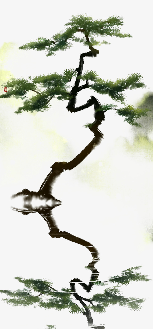 手绘松树矢量