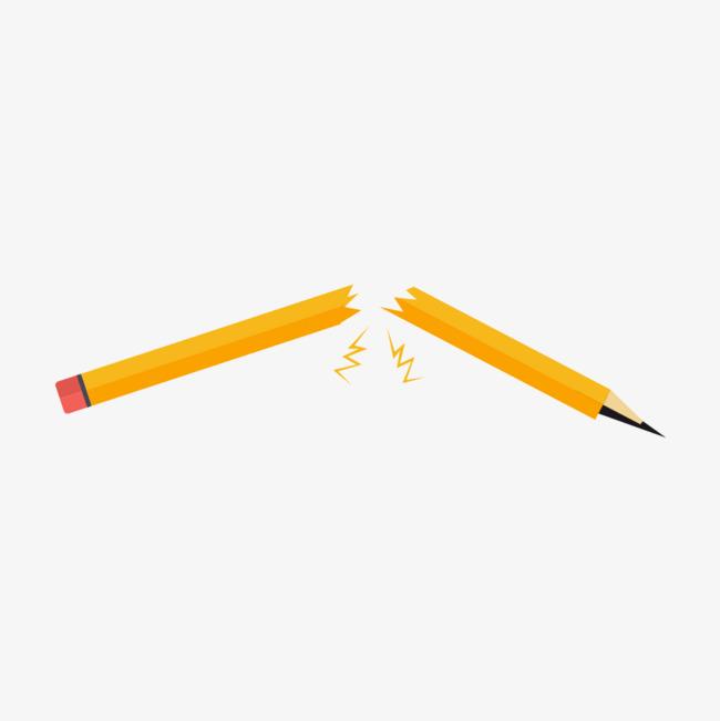 折断的铅笔图片