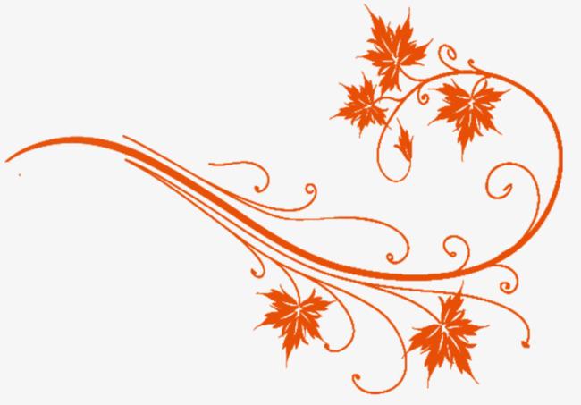 手绘枫叶装饰