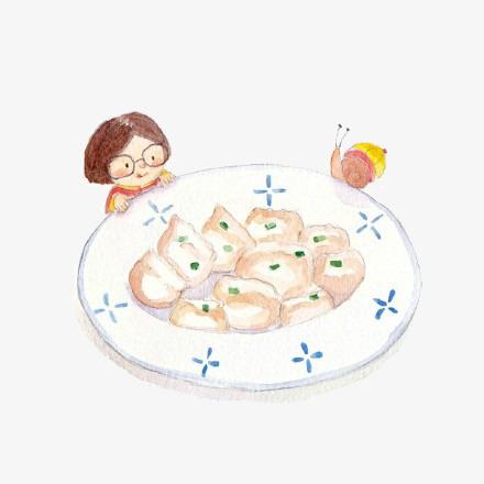 手绘饺子素材图片免费下载 高清卡通手绘png 千库网 图片编号5796455