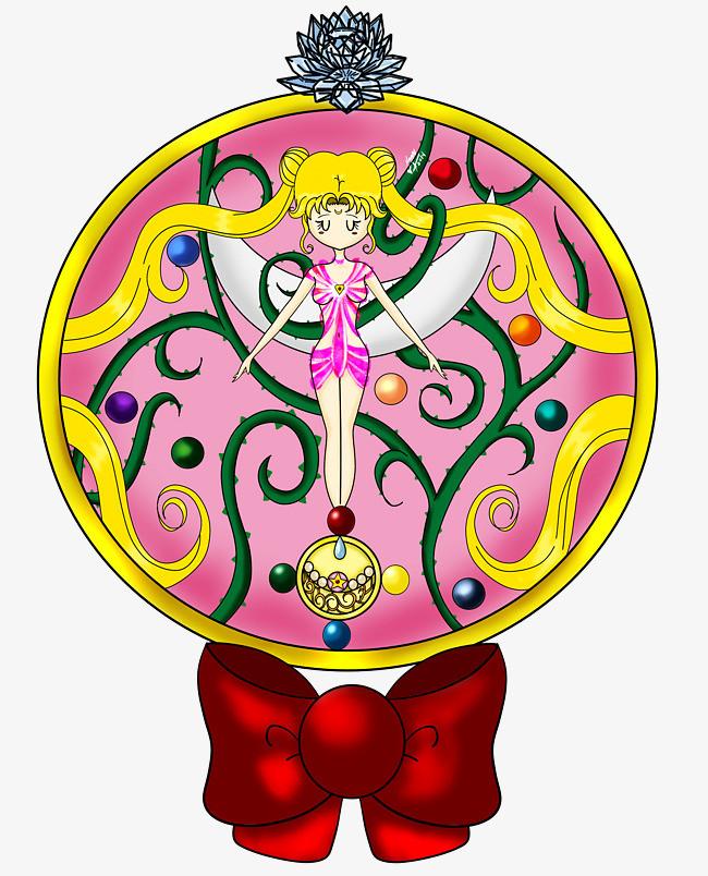 蝴蝶结上的卡通人物水晶球图片