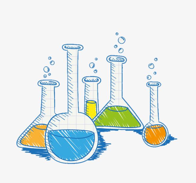 卡通手绘化学物品素材