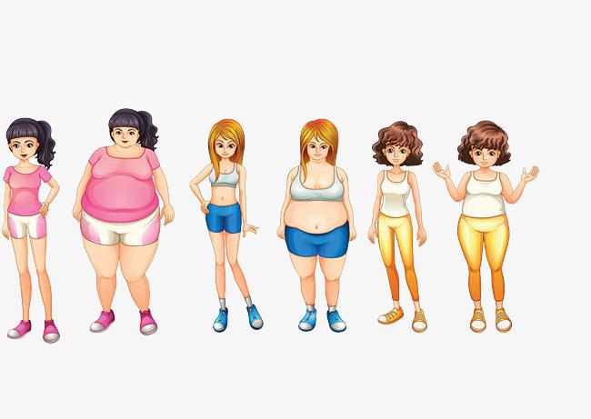 图片 > 【png】 女生减肥对比照  分类:手绘动漫 类目:其他 格式:png图片