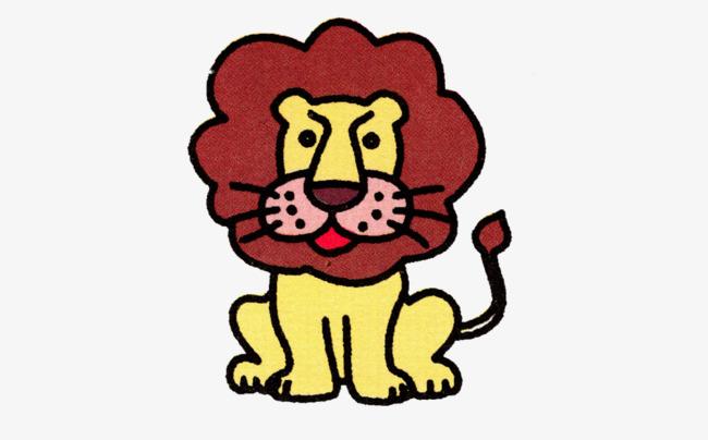 手绘黄色呆萌的狮子素材图片免费下载 高清卡通手绘png 千库网 图片编号5856188