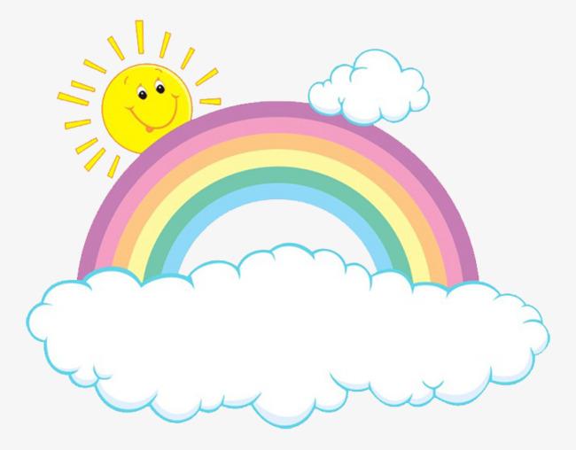图片 > 【png】 卡通晴天彩虹  分类:手绘动漫 类目:其他 格式:png