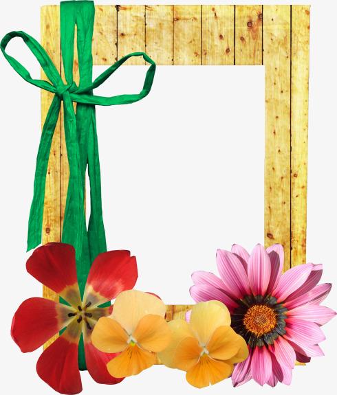 卡通手绘蝴蝶结花朵边框装饰