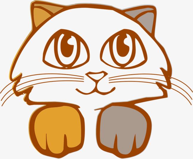 创意猫头可爱经典微笑