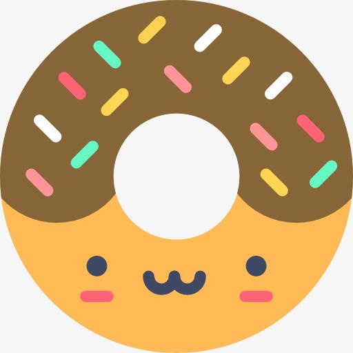 甜甜圈 食物 饼干 卡通             此素材是90设计网官方设计出品图片