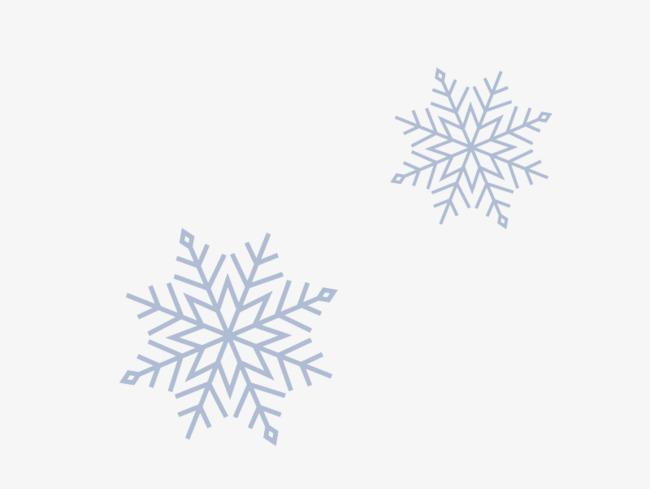 雪花卡通矢量素材图片