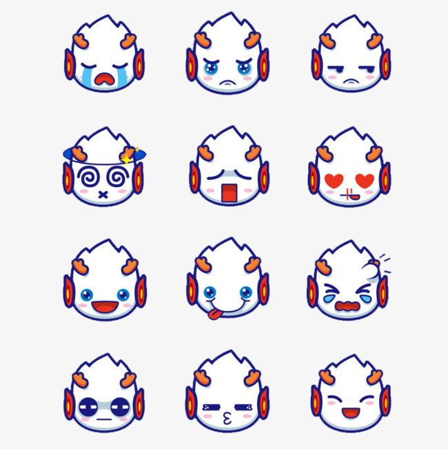 小龙人的各种表情图片